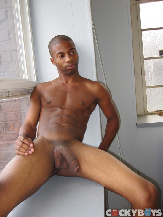 CockyBoys JJ Hardy Big Black Cock 06 Amateur Young Black Guy Jerks His HUGE Black Cock and Squirts Cum
