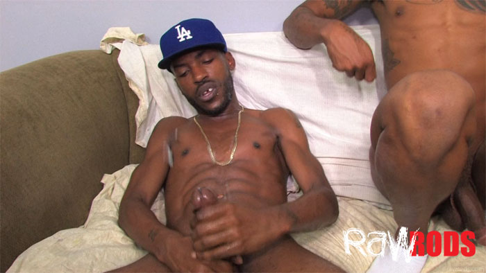 Raw Rods J Swagga and Kemancheo and Romeo St. James big black cocks barebacking thugs raw 58 Big Black Amateur Thug Cocks in a Barebacking Threesome