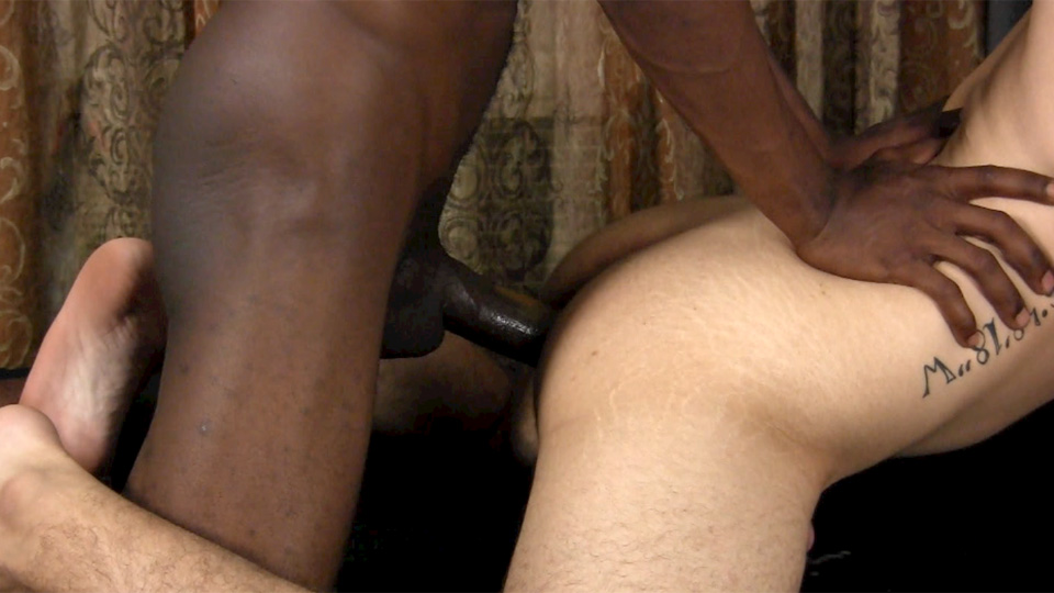 Horny White Guy Interracial Gay Porn Video 1