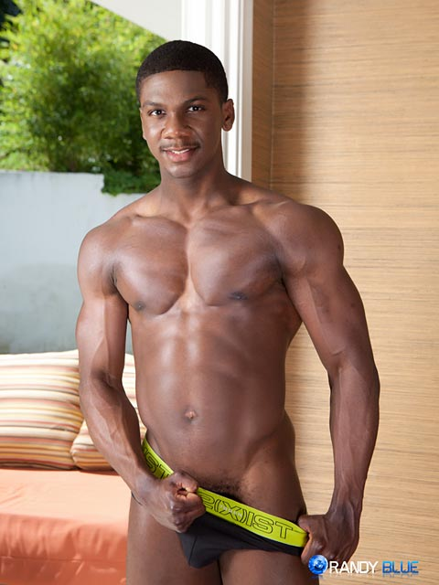 Randy-Blue-Sam-Jose-Black-Guy-Stroking-His-Big-Black-Cock-Amateur-Gay-Porn-03 Amateur Muscle Black Guy Jerks His Big Black Thick Cock With A Fleshjack
