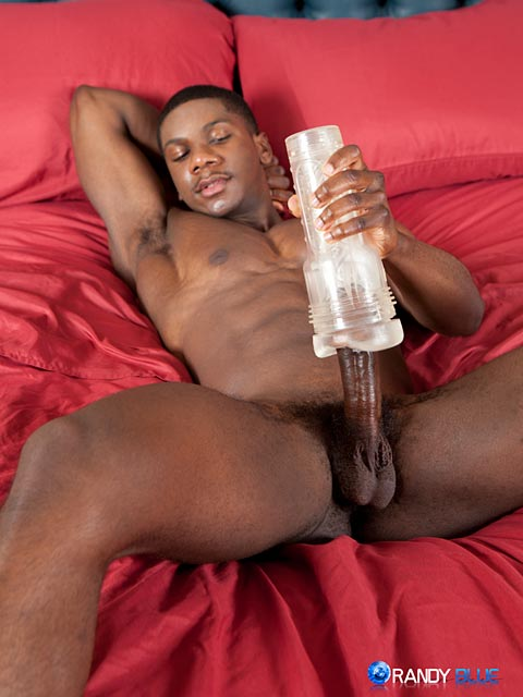 Randy-Blue-Sam-Jose-Black-Guy-Stroking-His-Big-Black-Cock-Amateur-Gay-Porn-10 Amateur Muscle Black Guy Jerks His Big Black Thick Cock With A Fleshjack
