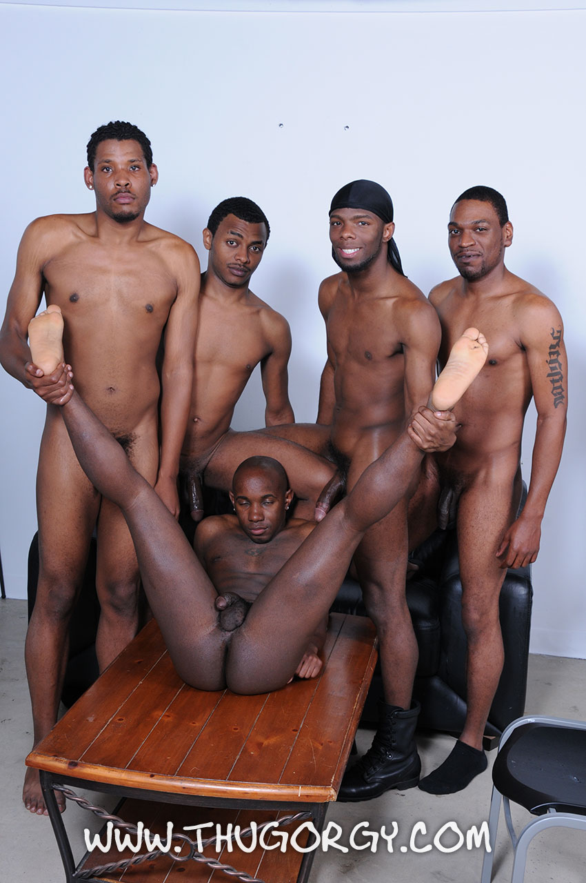 Thug-Orgy-Brooklyn-Bounce-Intrigue-Kash-Mr-Wayne-Young-Buck-Black-Thugs-Fucking-Amateur-Gay-Porn-14 Thug Orgy:  One Lucky Player Gets A Bukkake Face Full Of Thug Cum