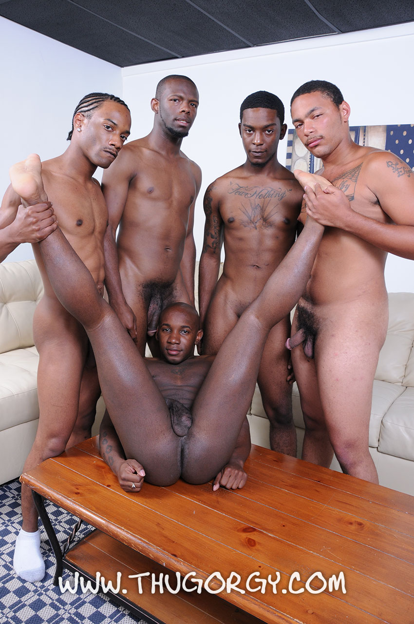 Big black dick orgy