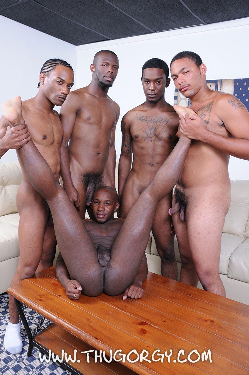 White guy fucks and sucks black cock in orgy