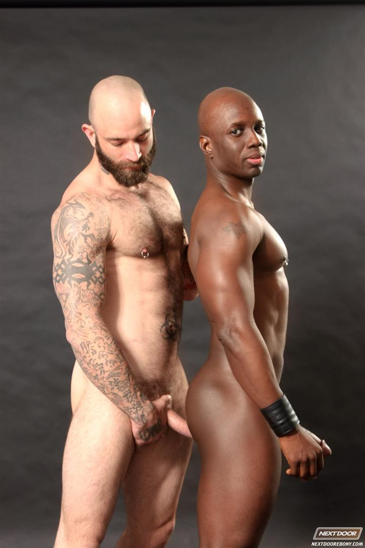 Black gay fucks white dude ass