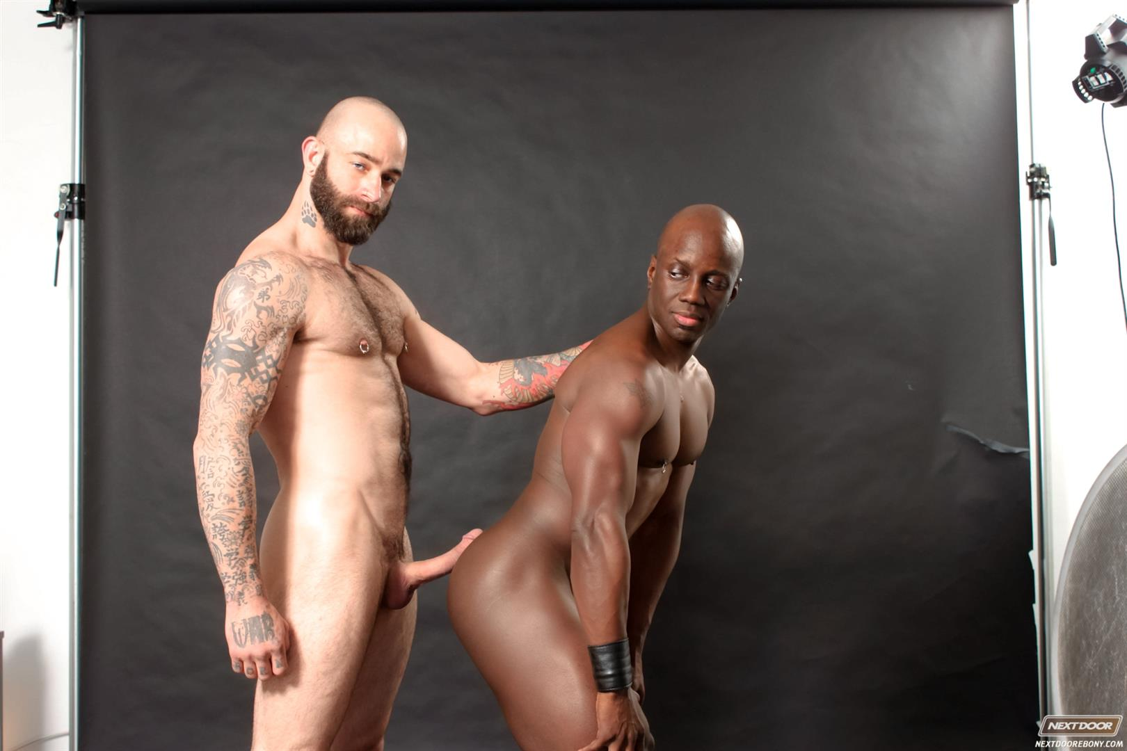 Next-Door-Ebony-Sam-Swift-and-Jay-Black-Interracial-White-Guy-Fucking-A-Black-Guy-Amateur-Gay-Porn-15 Hung Amateur Black Guy Takes A Big White Cock Up His Tight Ass