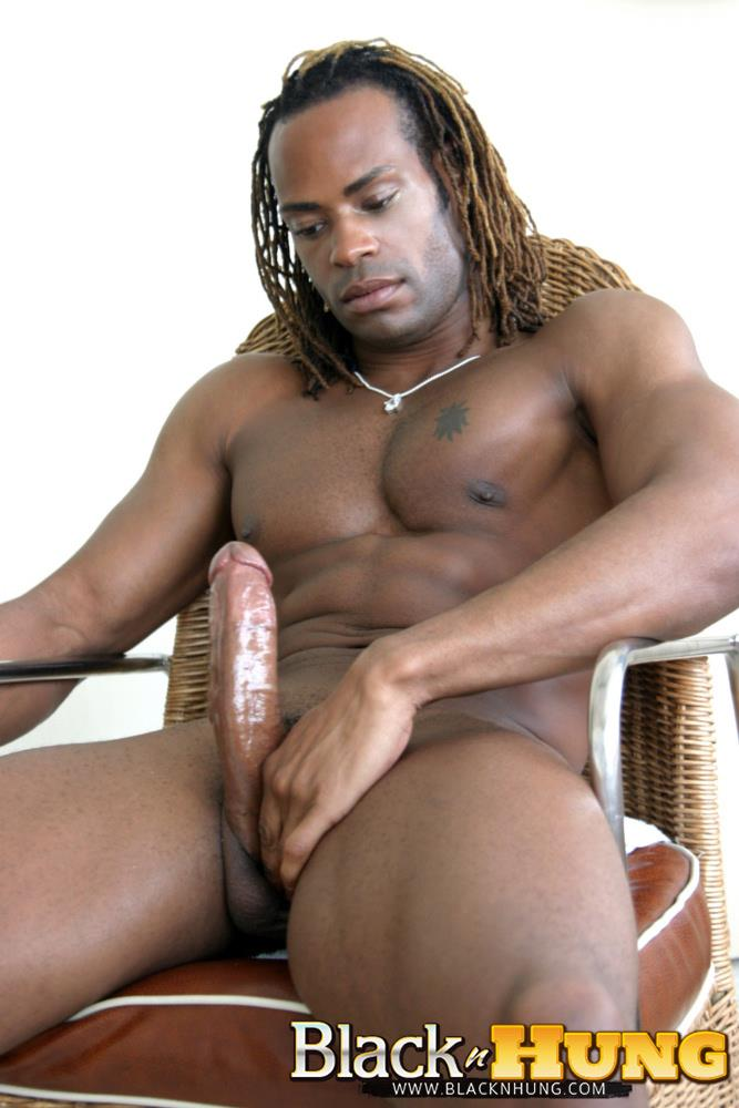 Black Guy Tugging His Cock