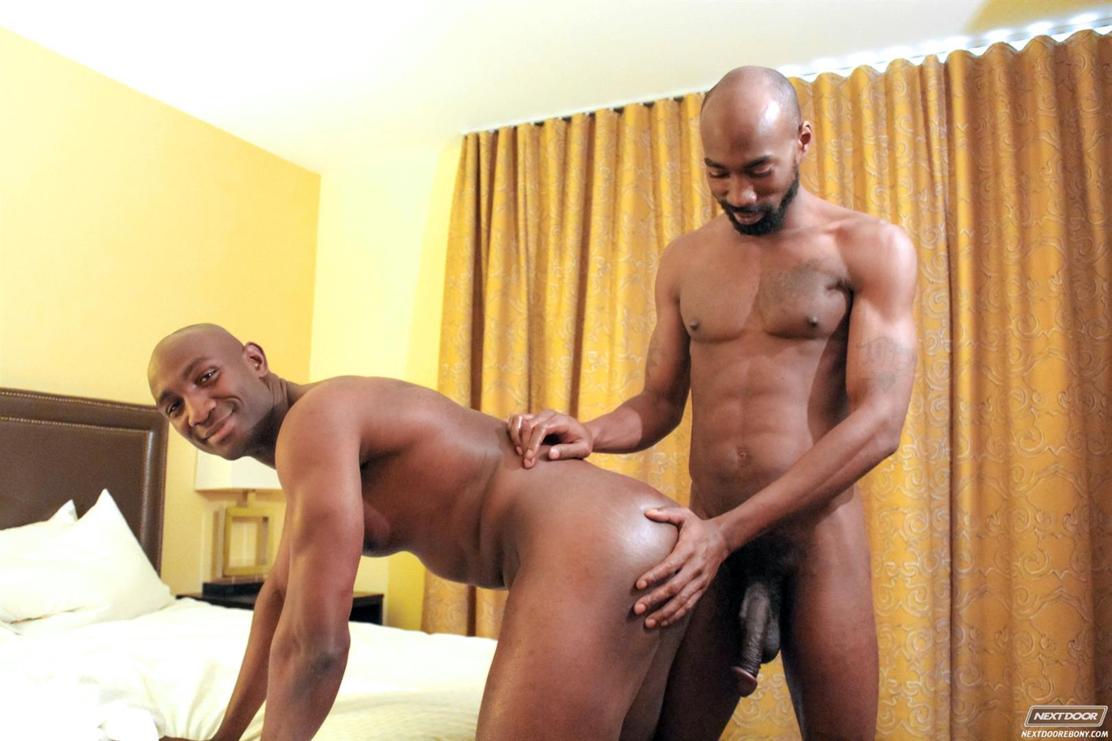 Next Door Ebony Astengo and PD Fox Big Black Cocks Fucking Amateur Gay Porn 09 Two Hung Black Guys Having Anonymous Gay Sex In A Hotel Room