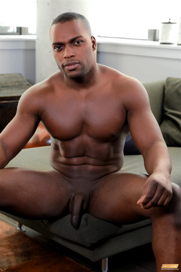 image Black dude jacks dick off fast and cums hot