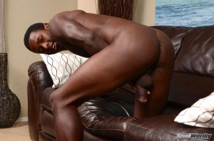 Big black cock football player