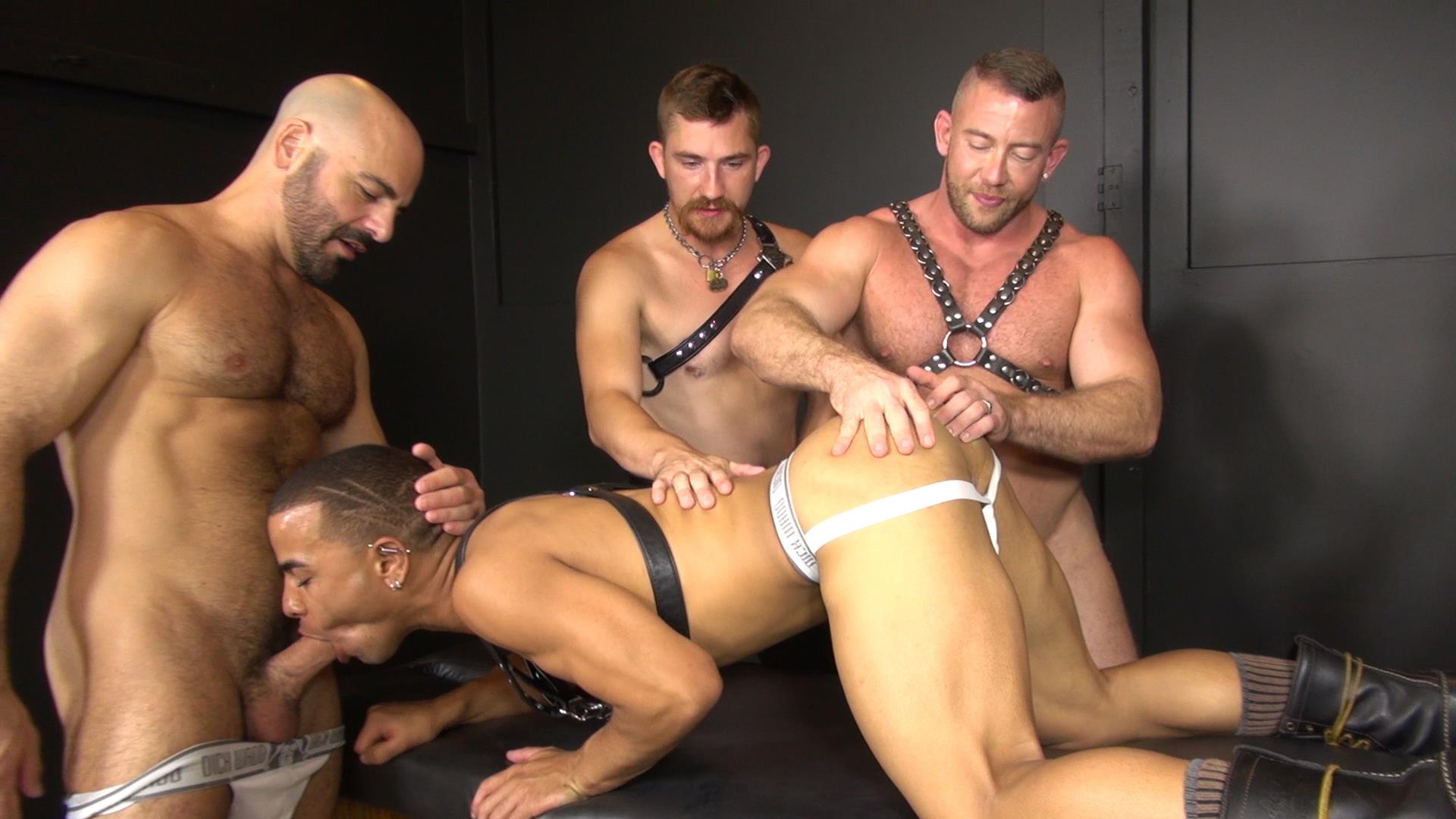 Interracial Gay Orgy 110