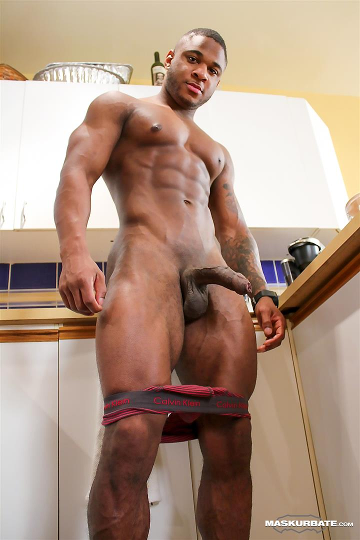 Hot Muscular Guy Huge Cock Strokes For You
