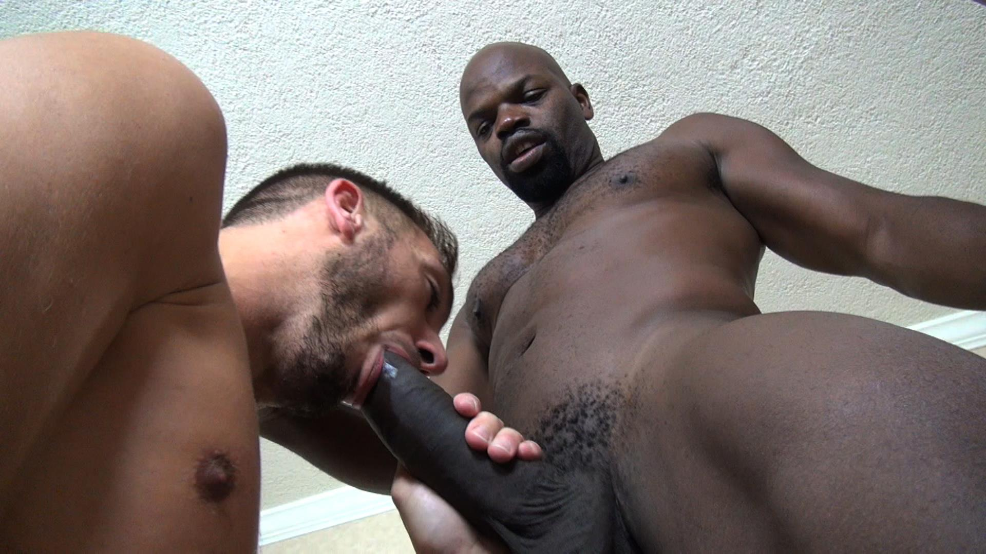 Gay interracial big cock blowjob and anal
