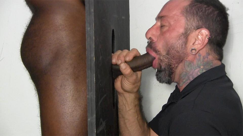Straight interracial studs sucking penis