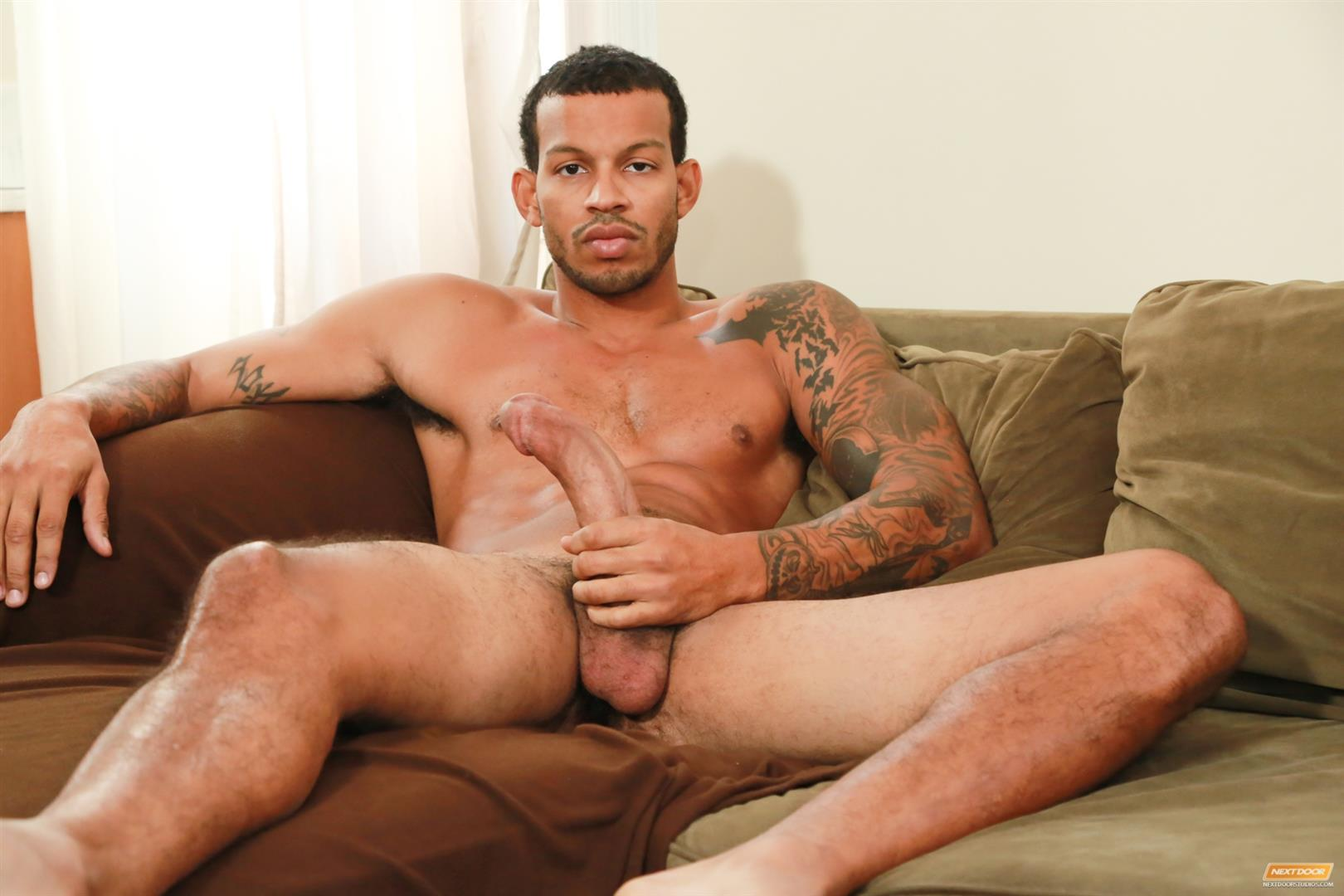 Ebony men jerking off