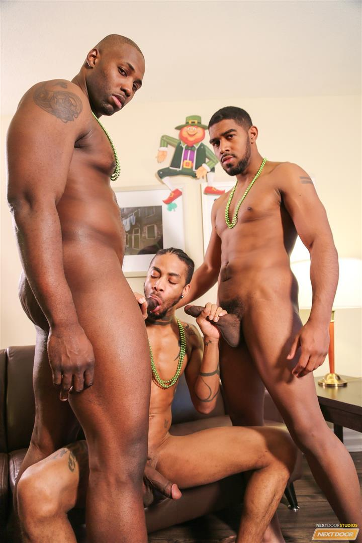 Next Door Ebony Nubius and Jin Powers and XL Naked Thugs Threeway Fucking Amateur Gay Porn 15 Big Black Cock Threeway Suck and Fuck Thug Fest