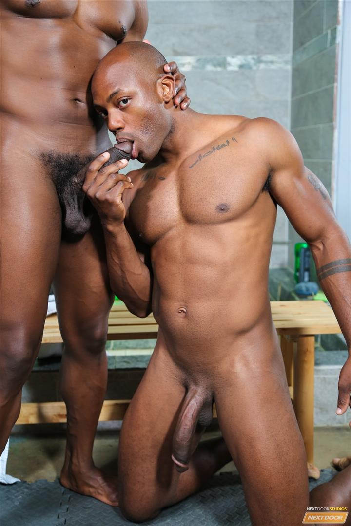 Next Door Ebony Krave Moore and Osiris Blade Big Black Cocks Dicks Fucking Amateur Gay Porn 07 Muscular Black Guys Take Turns Fucking Each Other In The Locker Room