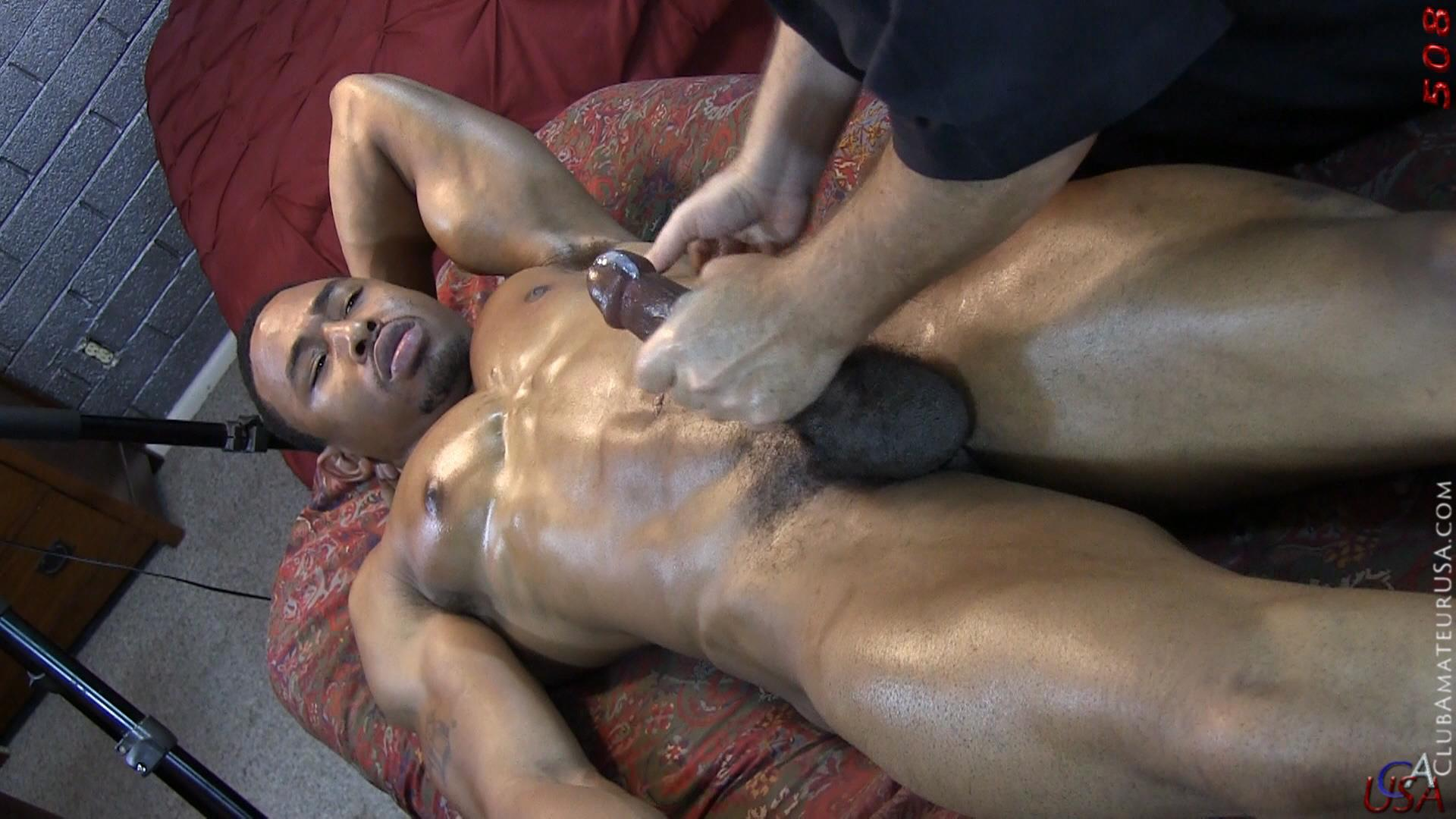 Black guy decides to blow his masseuses hard dick