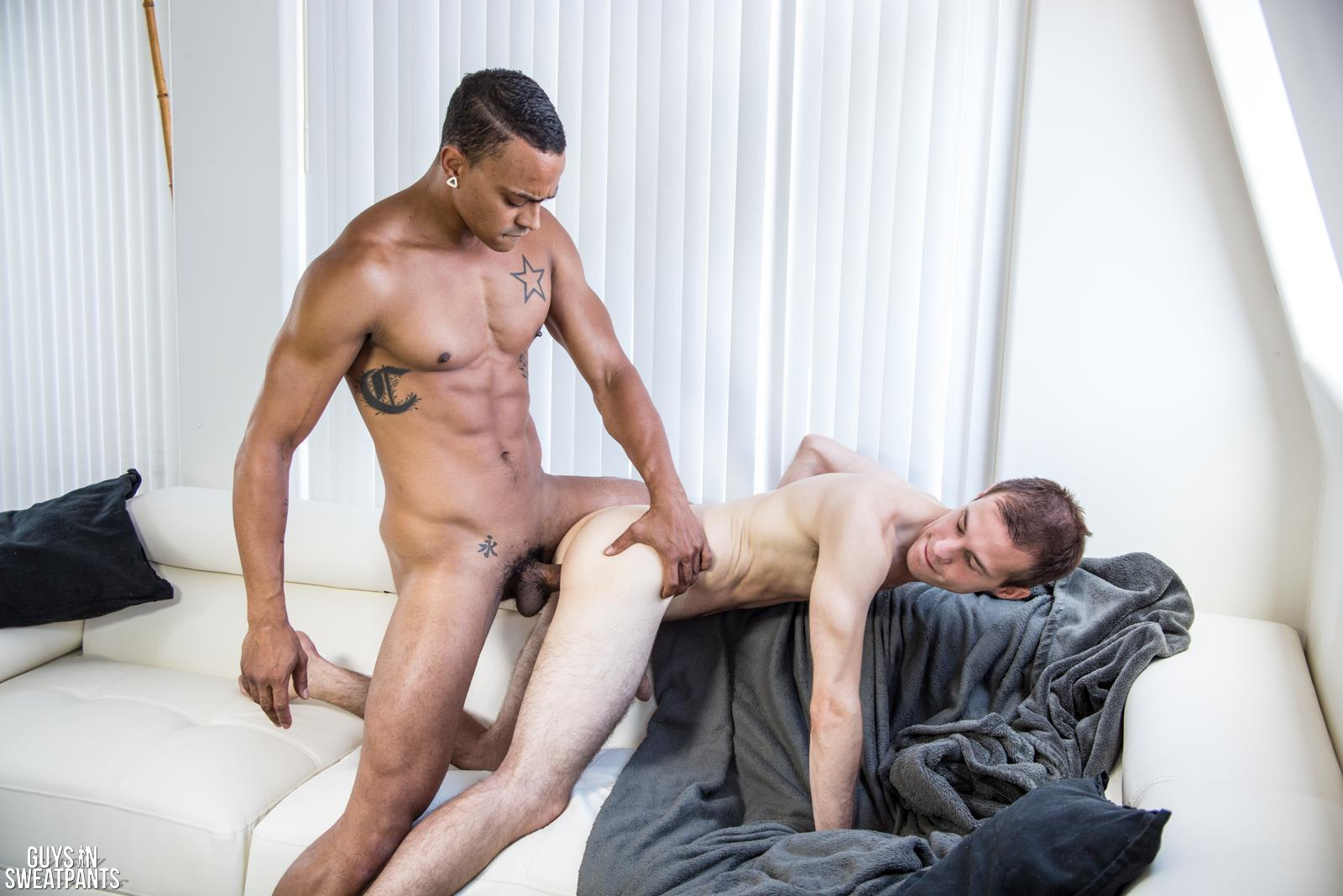 Interracial guys enjoy sex