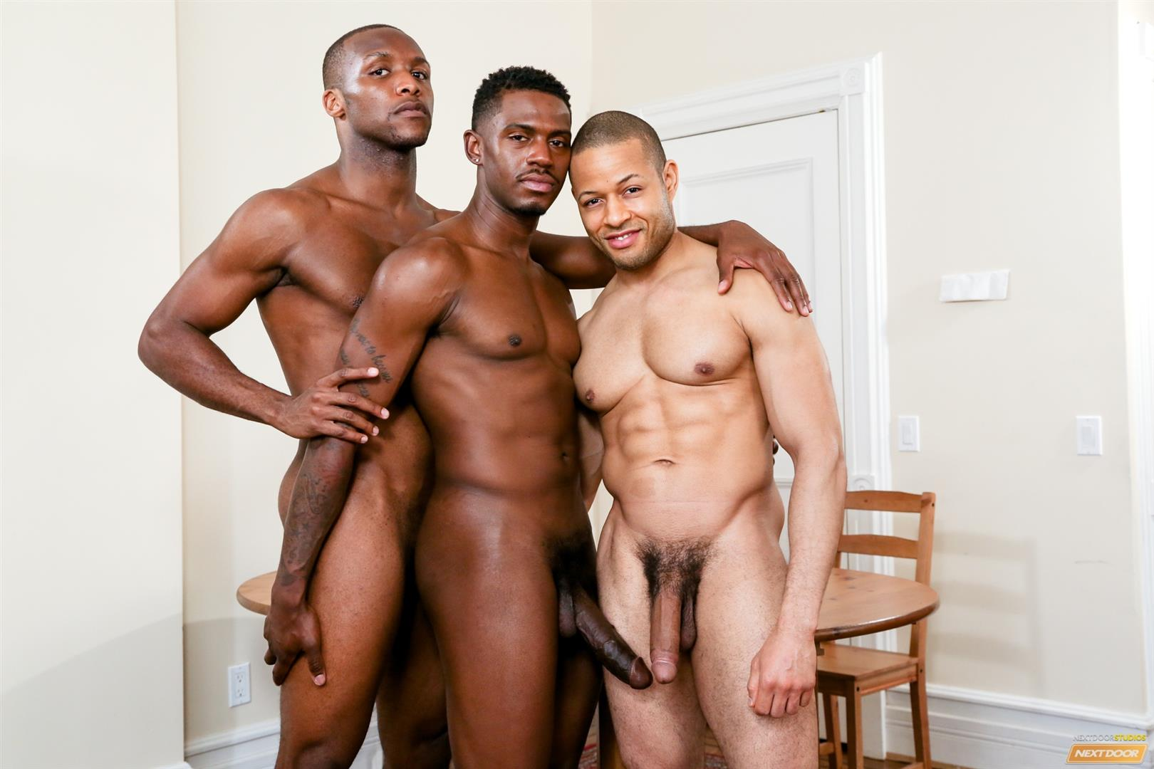 Three black dicks