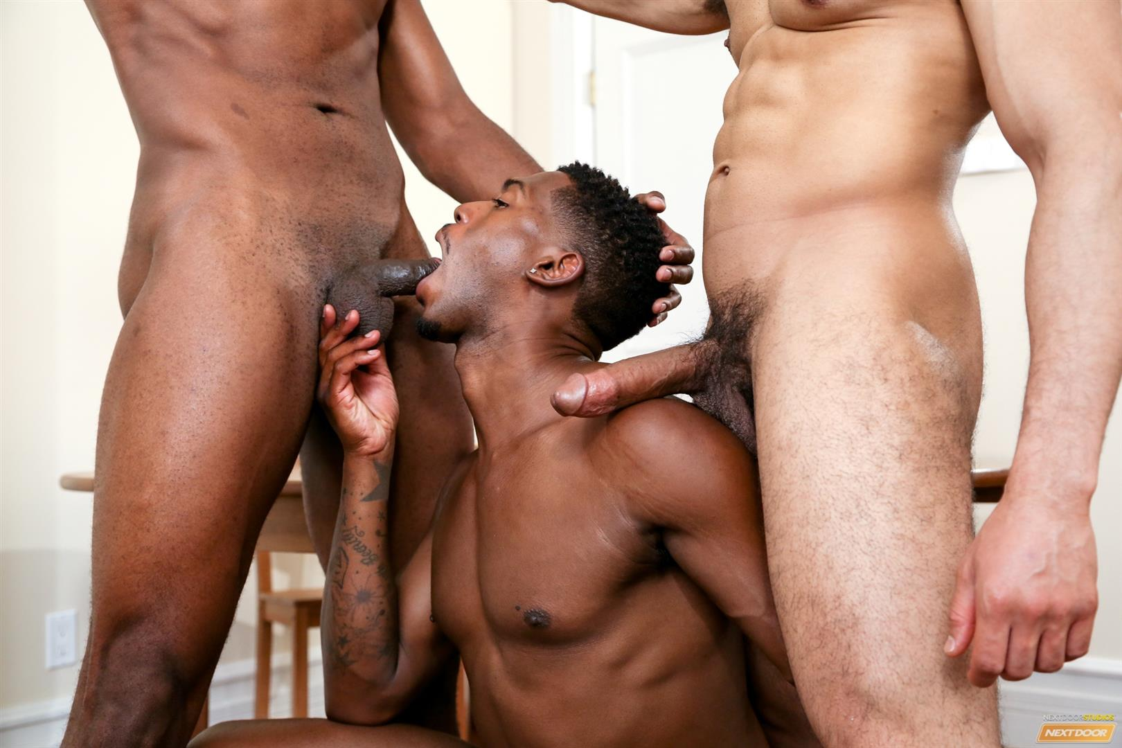 Studs pull their cocks after a suck fest