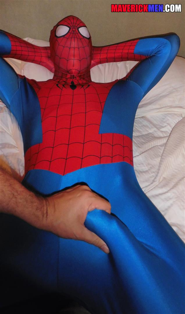 Maverick Men Spiderman With A Big Black Dick Bareback Threesome Amateur Gay Porn 04 Happy Halloween... Did You Know That Spiderman Has A Big Black Dick?