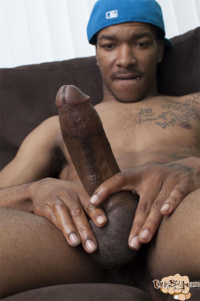 image Big black gay man takes advantage of small