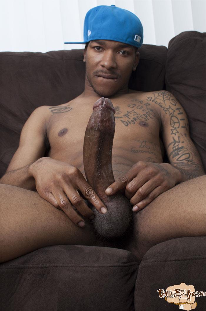 Black Dude Wanks Off His Big Cock