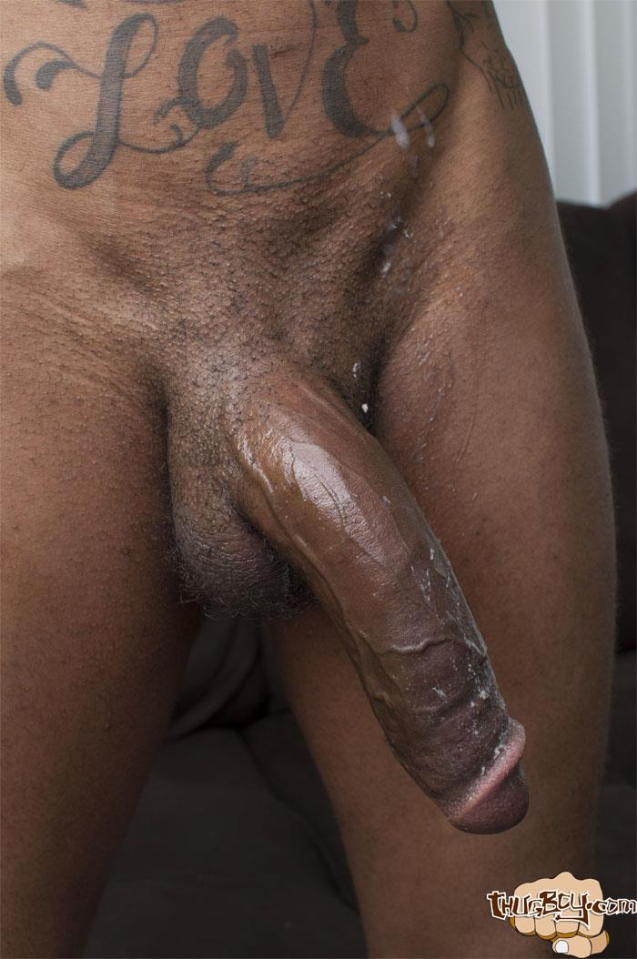 Thug-Boys-Black-Noir-Big-Black-Cock-Jerk-Off-Video-Amateur-Gay-Porn-50 Straight LA Thug Black Noir Jerking His Big Black Cock