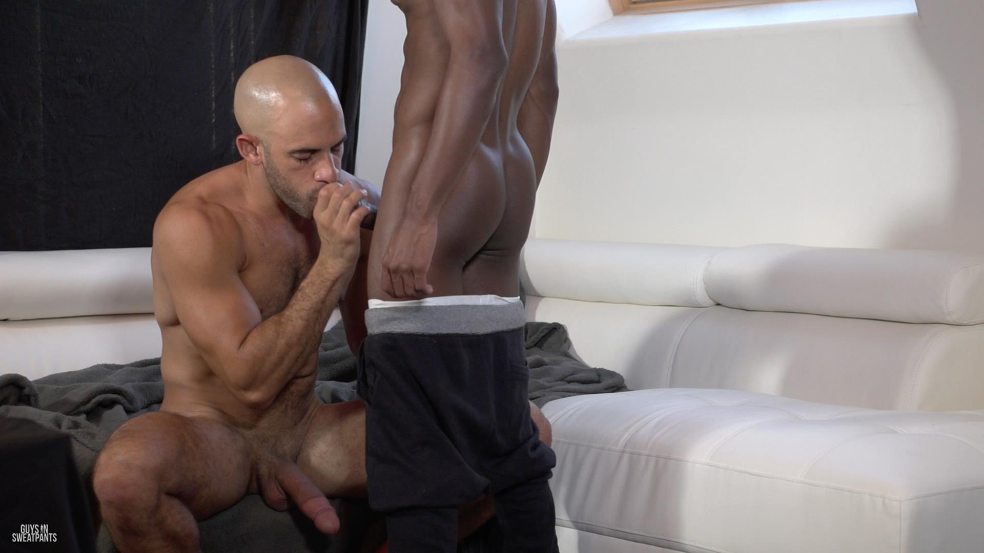 Guys in Sweatpants Austin Wilde and Liam Cyber Bareback Interracial Sex Amateur Gay Porn 01 Austin Wilde Takes A Big Black Bareback Cock Up The Ass