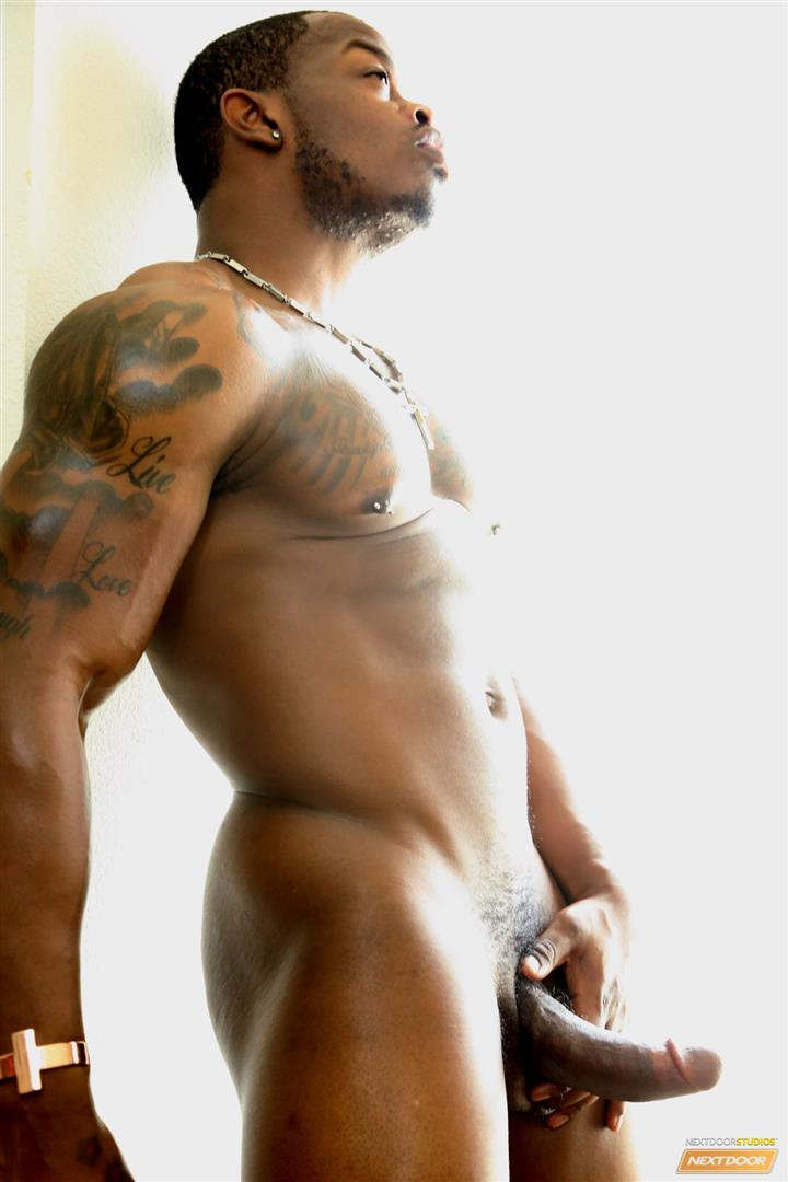 Next Door Ebony Mustang Muscular Black Guy Jerking Big Black Cock Big Uncut Cock Amateur Gay Porn 09 Bisexual Muscular Black Guy Strokes His Big Black Cock
