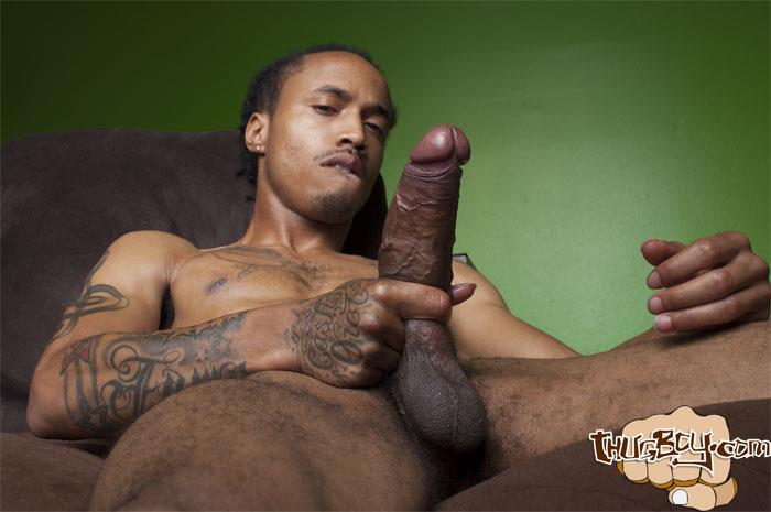 Thug Boy Cali Bandz Big Black Uncut Cock Jerk Off Amateur Gay Porn 40 Thug Boy:  Straight Ghetto Thug Strokes His Big Black Uncut Cock