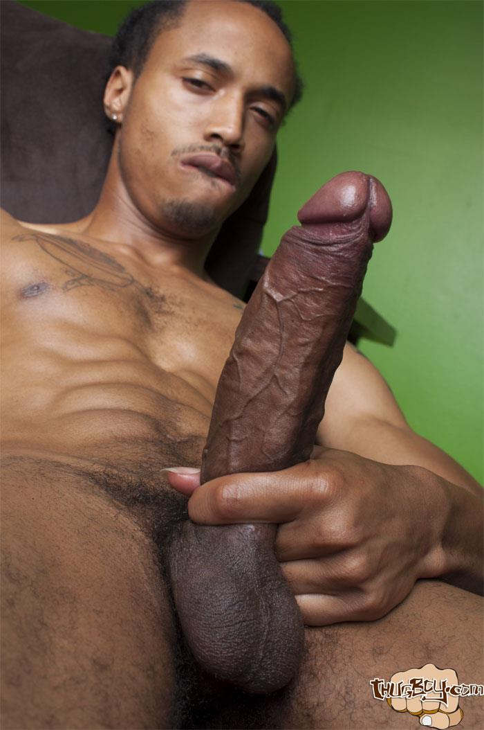 white and black guy masturbating