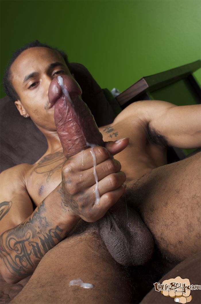 Big black men jerking off