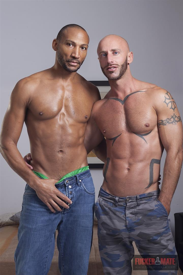 Fuckermate Buster Sly and Aymeric Deville Interracial bareback fucking Amateur Gay Porn 01 Interracial Bareback Breeding With Buster Sly and Aymeric Deville
