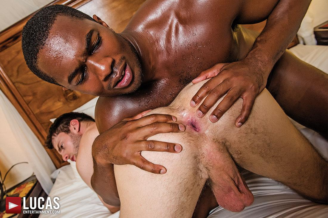 Big black cock gay interracial
