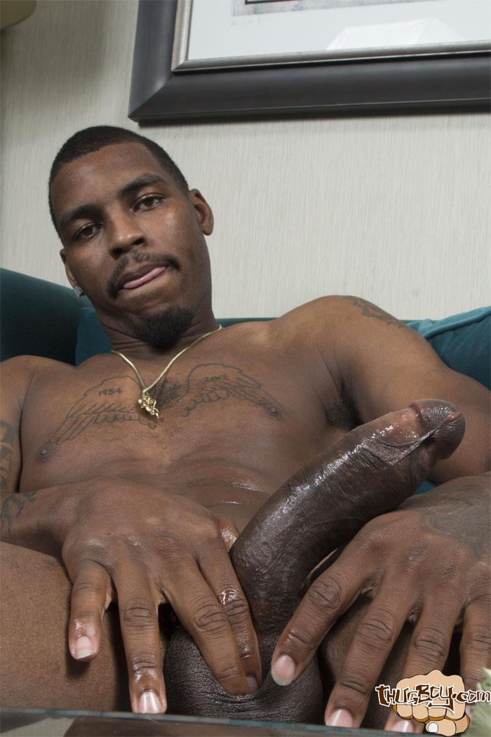 Thug-Boy-Tyrelle-Big-Black-Uncut-Cock-Jerk-Off-Amateur-Gay-Porn-51 Thug Boy Tyrelle Strokes His Big Black Uncut Cock