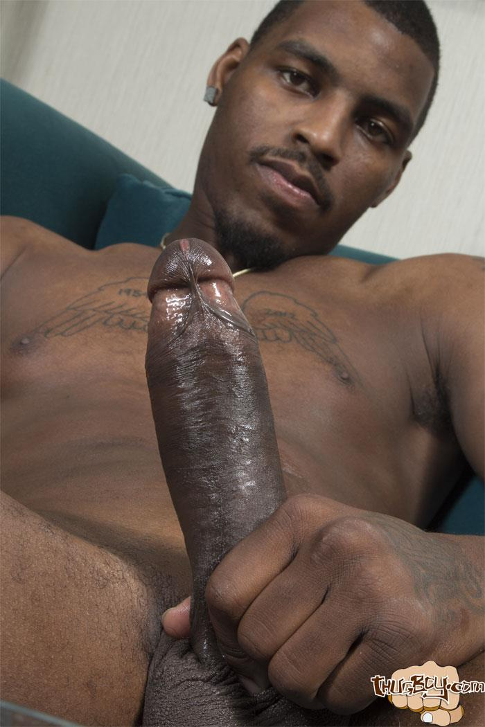 Thug Boy Tyrelle Big Black Uncut Cock Jerk Off Amateur Gay Porn 53 Thug Boy Tyrelle Strokes His Big Black Uncut Cock