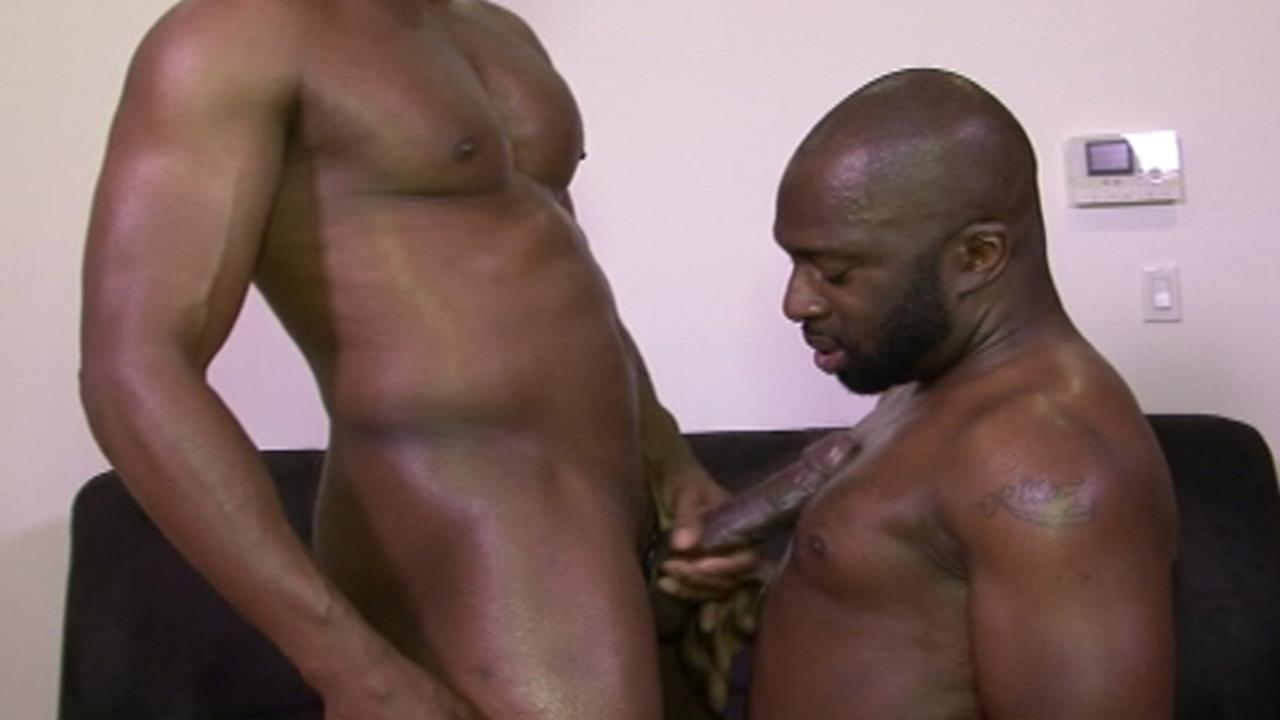 Huge black man doubles over big tit whore 3