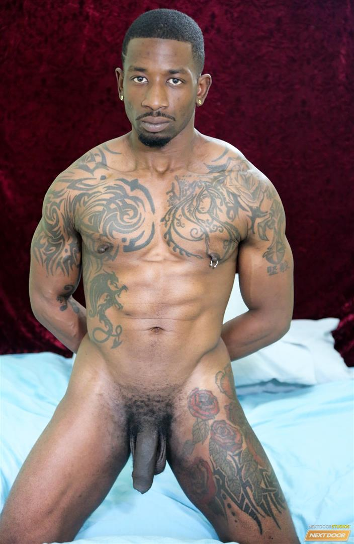 Straight muscley black guy turns gay