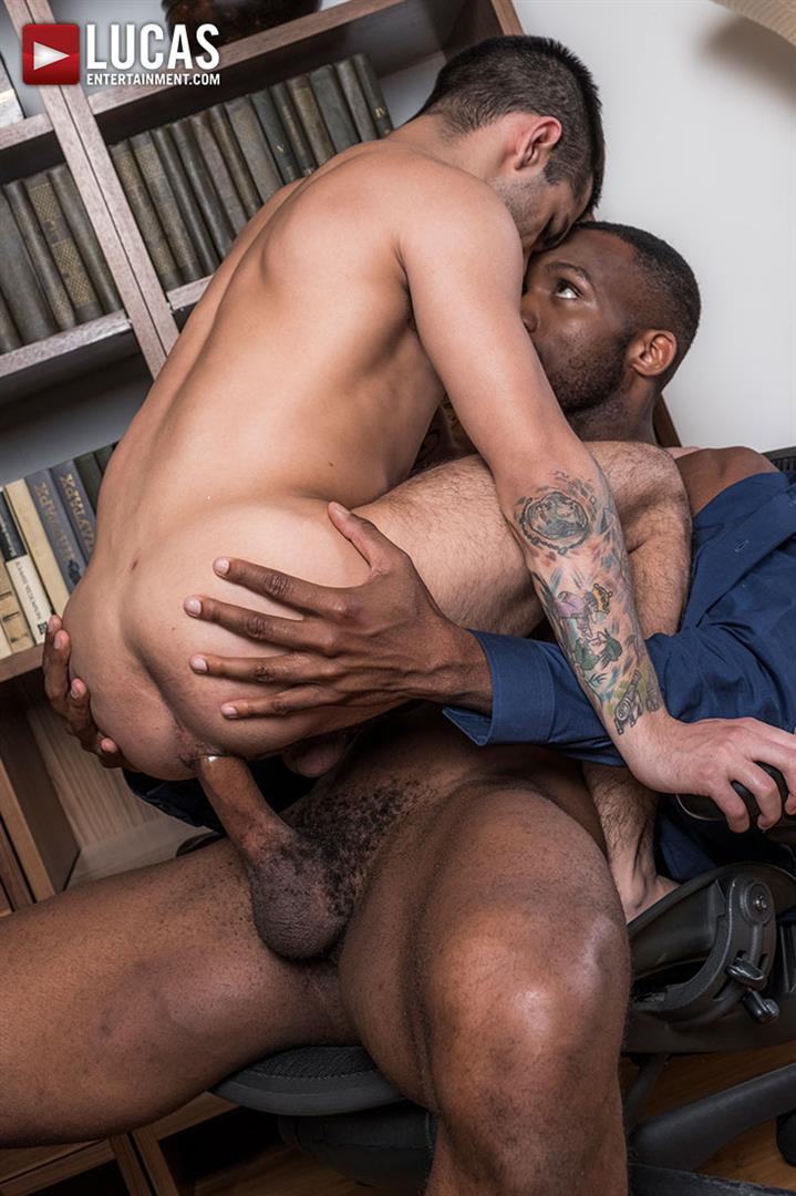 Lucas-Entertainment-Ty-Mitchell-and-Andre-Donovan-Big-Black-Cock-Bareback-Sex-18 Getting Fucked Raw By My Bosses Big Black Cock