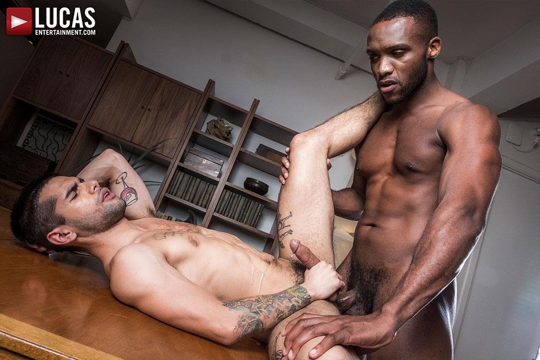 Lucas-Entertainment-Ty-Mitchell-and-Andre-Donovan-Big-Black-Cock-Bareback-Sex-24 Getting Fucked Raw By My Bosses Big Black Cock