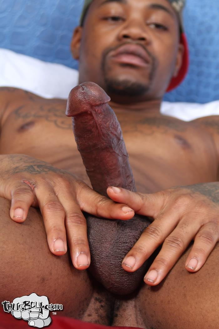 Thug-Boy-King-Kato-Naked-Chicago-Thug-Big-Black-Dick-30 Chicago South Side Thug Stokes His Big Black Cock