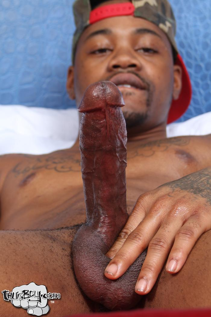 Thug-Boy-King-Kato-Naked-Chicago-Thug-Big-Black-Dick-45 Chicago South Side Thug Stokes His Big Black Cock