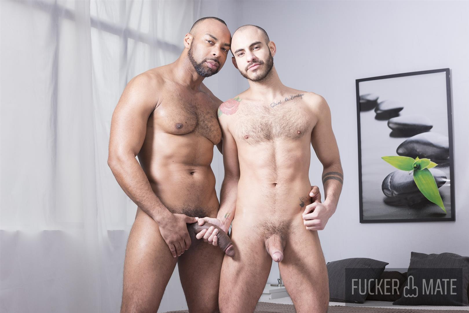 Latin daddy fucks bare