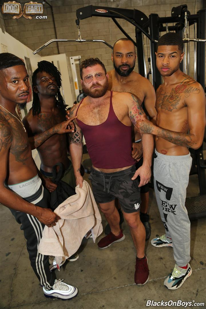 Blacks-On-Boys-Riley-Mitchel-Fame-Knockout-Leon-Redd-Ray-Diesel-Big-Black-Cock-05 Hairy Muscle Daddy Riley Mitchel Takes Four Big Black Cocks Up The Ass