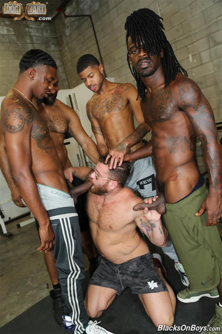 Blacks-On-Boys-Riley-Mitchel-Fame-Knockout-Leon-Redd-Ray-Diesel-Big-Black-Cock-09 Hairy Muscle Daddy Riley Mitchel Takes Four Big Black Cocks Up The Ass