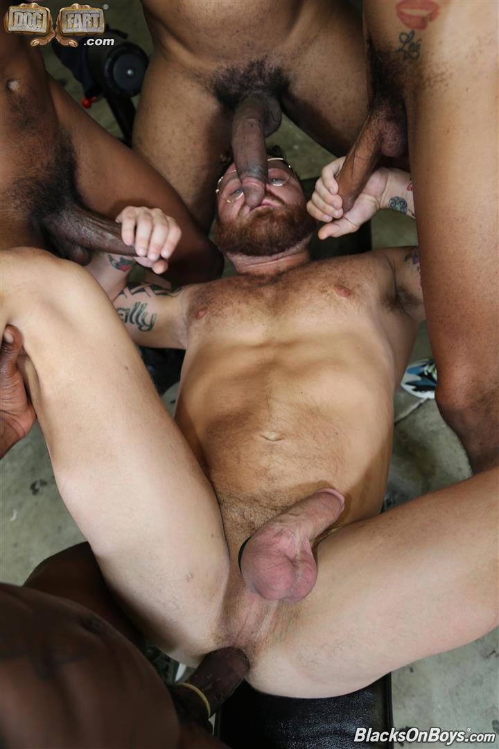 Blacks-On-Boys-Riley-Mitchel-Fame-Knockout-Leon-Redd-Ray-Diesel-Big-Black-Cock-25 Hairy Muscle Daddy Riley Mitchel Takes Four Big Black Cocks Up The Ass
