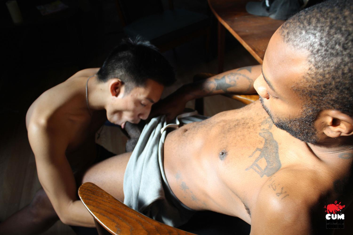 Cum-Pig-Men-David-Ace-and-August-Alexander-Big-Black-Cock-Cumming-08 August Alexander Gets His Big Black Dick Sucked By A Cum Eating Asian
