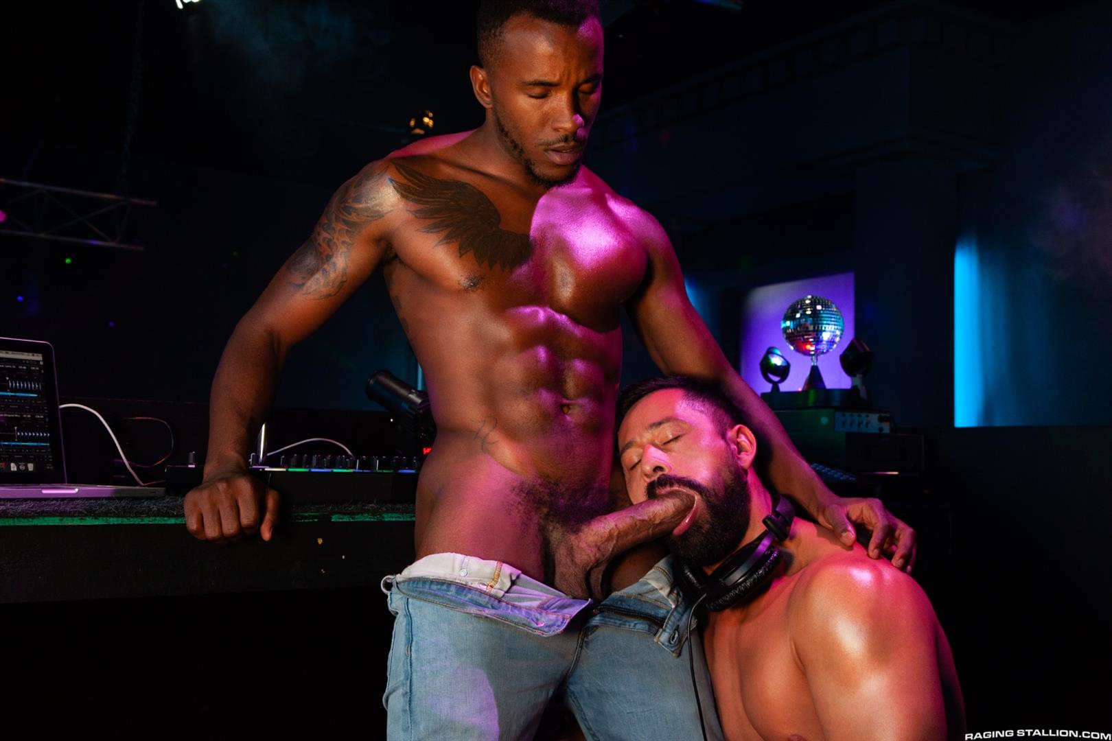 Raging-Stallion-Pheonix-Fellington-and-Cristian-Sam-Big-Black-Cocksucking-Video-13 Getting My Big Black Cock Sucked In The DJ Booth